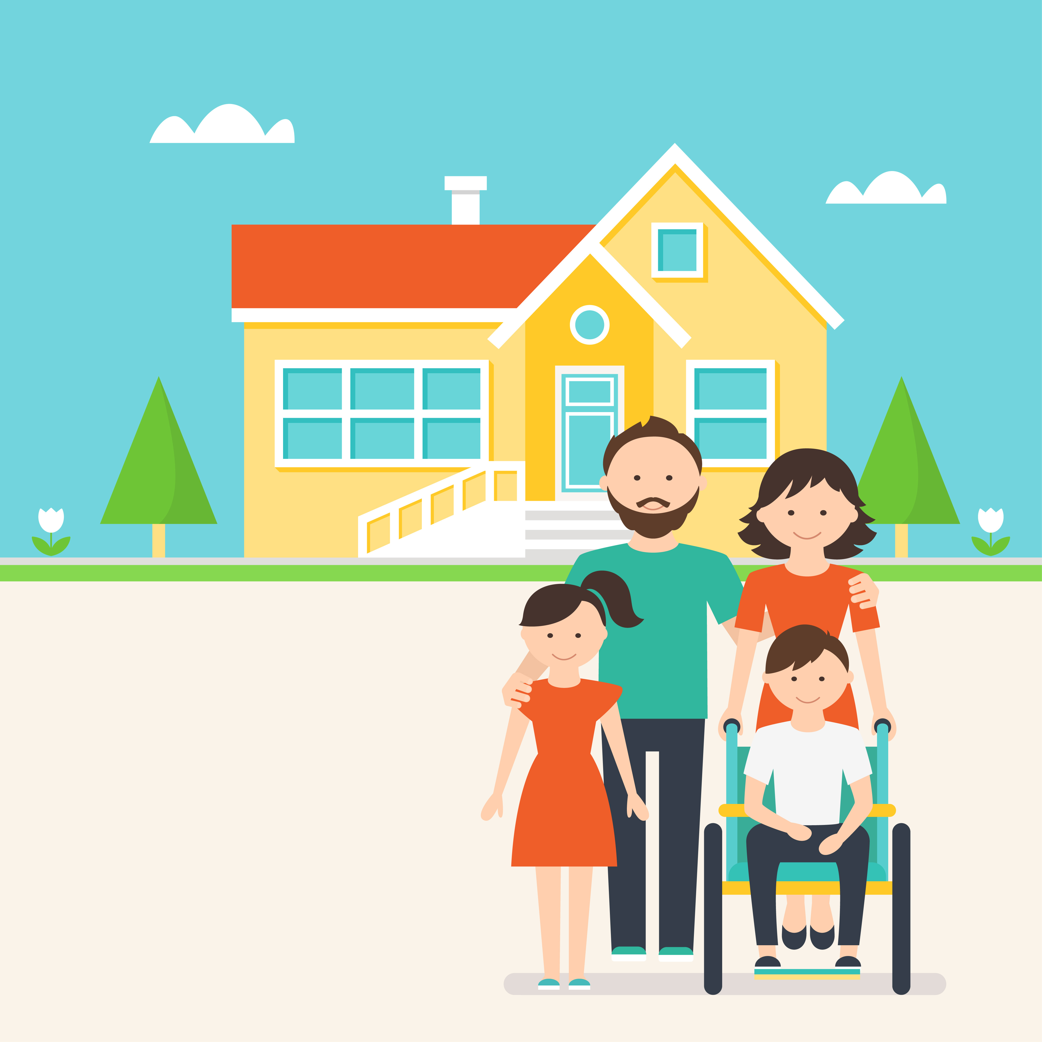 Accessible Housing for Families and Kids with Special Needs Illustration